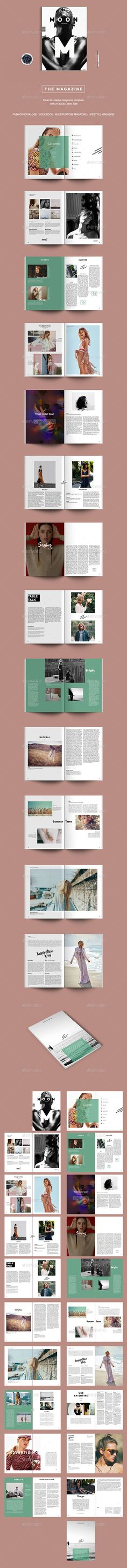 Buy The Magazine by Viktoribat on GraphicRiver. The Simple / Fashion / Creative Magazine is a 40 page Indesign brochure template available in both and US letter s. Graphic Design Layouts, Brochure Design, Layout Design, Set Design, Editorial Layout, Editorial Design, Editorial Fashion, Magazine Cover Template, Magazine Covers