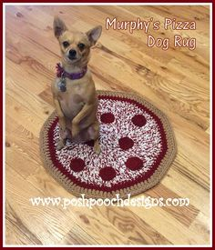 Posh Pooch Designs Dog Clothes: Murphy's Pizza Dog Rug Crochet Pattern | Posh Pooch Designs