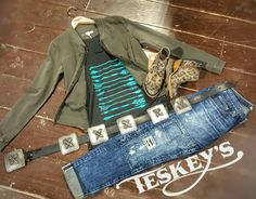 I am in LOVE with these new liberty black booties!   Mix and match, stand out and be a trend setter! - Big star Jeans:$98.00 - Leopard bootie: $229.99 - Concho belt:$349.99 - Jacket, roxy: $69.50 - Arrows tank: $39.99 ➡ Message for invoice. All comments d