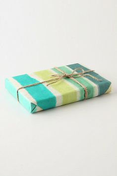 painted stripped wrapping paper