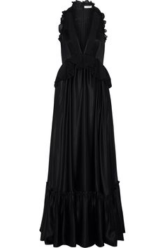 GIVENCHY Ruffled gown in black silk-satin $7,590 http://www.net-a-porter.com/products/471783