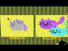 Minecraft / Pixel Painters / Pusheen and Bumble Bee Cat / Gamer Chad Plays - YouTube