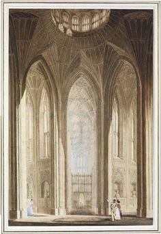 An Abbey Interior, possibly Fonthill