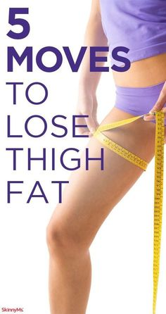 This slimming thigh workout targets leg muscles and burns tons of calories in a short period of time. Get your legs pumping with these 5 moves to lose thigh fat!