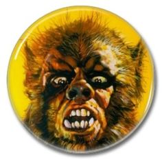 Warewolf button!  #buttons #badges #pins #botones #horror #occult