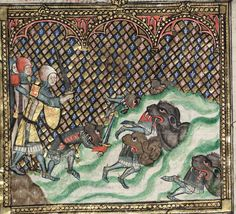 264 The Romance of Alexander in French verse with two sections added in England c. Medieval Life, Medieval Art, Alexander The Great, Historical Art, Small Art, 14th Century, Illuminated Manuscript, Romance, Old World
