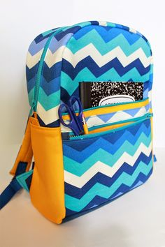 The Annual Backpack, 2014 | A modified Kids Backpack by The Sterling Owl in outdoor fabric & duck canvas. | The Inspired Wren