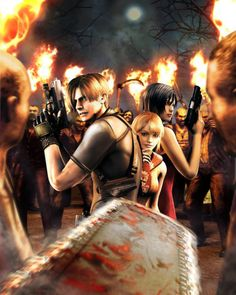 Zombies Surround Us Resident Evil 4 Artwork