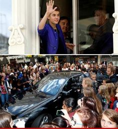 Justin Bieber Mobbed by Fans Oslo, Norway