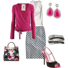 Pink & Dots, created by kelly-harrison-hlavin on Polyvore