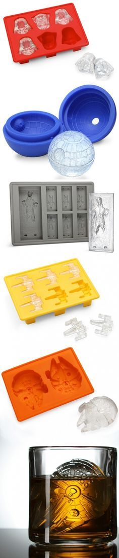 Star Wars ice molds... My mom would live these, she is a big Star Wars fan @3mpireshopsback