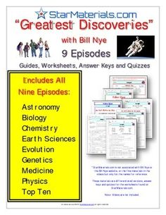 Differentiated Video Worksheet, Quiz & Ans. for Bill Nye - Phases of ...