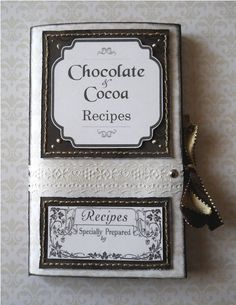 Sweet recipes notebook by Witch_m. Papers: Winter Elegance #2 and Hectic Eclectic #1.