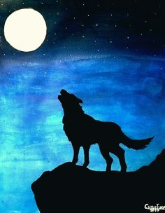 Painting: wolf in the moonlight oil pastel paintings, oil pastel art, watercolor paintings Oil Pastel Paintings, Oil Pastel Art, Oil Pastel Drawings, Animal Paintings, Watercolor Paintings, Art Drawings, Wolf Painting, Easy Canvas Painting, Galaxy Painting