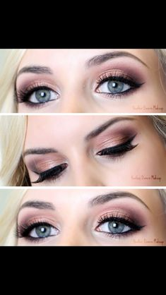 37 top rose gold makeup ideas to look like a goddess 37 Top-Make-up-Ideen aus Roségold, die au Blue Eye Makeup, Love Makeup, Simple Makeup, Skin Makeup, Eyebrow Makeup, Blonde Hair Blue Eyes Makeup, Spring Eye Makeup, Wedding Makeup For Blue Eyes, Bronze Makeup