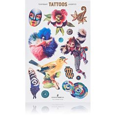 SoundsuitShop Temporary Tattoos (510 RUB) ❤ liked on Polyvore featuring accessories, body art and no color