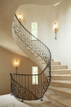 Architect Portfolio by Harrison Design - Dering Hall Staircase Railing Design, Iron Staircase, Balcony Railing, Railings, Staircases, Railing Ideas, Spiral Staircase, Dream Home Design, House Design