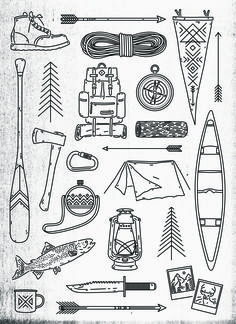 zacharysmithh: Camping Print - by Zachary Smith View full-size Here | Buy Here