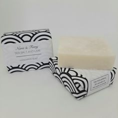 Hand cut into generous 125g square shape bars.   Our Sea Salt and Lime bar is made using a gentle blend of Olive Oil, Shea Butter and Castor Oil for the softest lather and finest bubbles. Grapefruit, Ylang and a hint of Lime make for a fresh clean sent and Local Devonshire Sea Salt is added to create a mild exfoliating bar of soap.