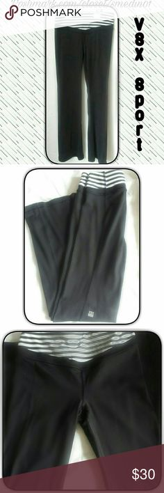 VICTORIA SECRET SPORT This features black and white stripes for design. (NWOT) Never worn. Size XS/TP * Sorry no trades * but open for offers. Smoke free home. Ships same day. Thank you for checking out my closet :)   Content fiber  77% nylon  23% rayon victoria secret  Pants Track Pants & Joggers