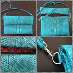 Tuto pochette à rabat Leather Bag Pattern, Diy Bags Purses, Clutch Bag, Free Crochet, Crochet Bikini, Crochet Patterns, Bag Patterns, Sewing Projects, Pouch