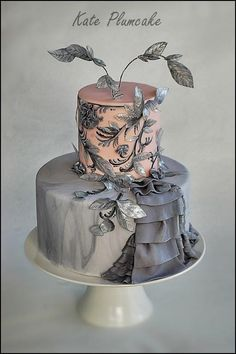 Cake Central Magazine - The Fashion Issue - Cake by Kate Plumcake