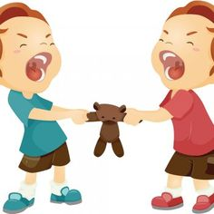 Sibling Rivalry: Simple Ways To Help Your Kids Get Along - Parenting Simply Boy Nursery Colors, Grey Nursery Boy, Woodland Nursery Boy, Baby Boy Nursery Themes, Friendship Theme, School Clipart, Classroom Rules, Social Stories, Cartoon Images