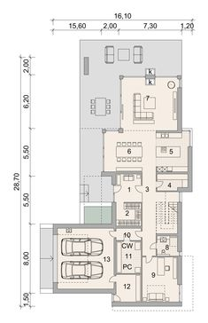 House Project LK&1522 Home Projects, Planer, Floor Plans, Modern, Formal Gardens, Homes, House, Trendy Tree, House Projects