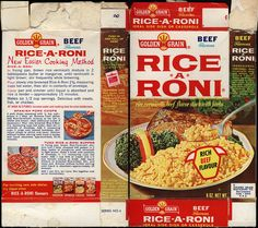Rice a Toni box | Golden Grain - Rice-a-Roni - rich beef flavour box - 1970's | Flickr ...