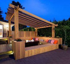 Pergola Bench Seat Designs | Pergolas / Gazebo (shared via SlingPic)