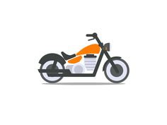 Hey guys, We are currently working on custom icons (flat, solid, outline) for an insurance company (using their brand's colors). Here is the final version of a motorcycle icon (Harley style) that . Bike Icon, Motorcycle Icon, Bike Sketch, Bike Drawing, Bike Illustration, Character Illustration, Custom Icons, New Motorcycles, Car Drawings