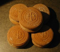 """beautiful bread stamps - Theotokos, Russian, Saints, and this Greek one """"The Blessing of the Lord is Upon Us"""""""