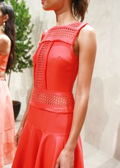 Swooning over our collab pieces with Timo Weiland, especially this bright red number | Banana Republic Spring '16 NYFW Presentation