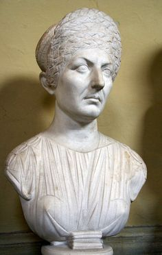 Vatikanische Museen, Museo Chiaramonti, Frisurenmode im alten Rom 1. Jh. n. Chr.? (antique Roman hair style, 1st century A. C.?)