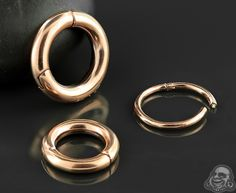 ($11.95) Rose gold colored clicker ring (Bodyartforms)