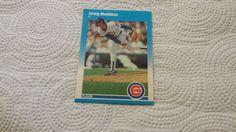1987 Fleer Update Greg Maddux single baseball rookie card