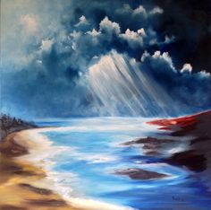 Contemporary Original oil on canvas, Illusion of the Red Land .