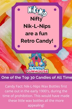 Nik-L-Nips Wax Bottles have been chewed on for generations. These tiny and colourful wax bottles come filled with a fruity candy tasting juice inside. Retro Candy, Do You Remember, Nifty, All About Time, Wax, Posts, Sweet, Blog, Messages