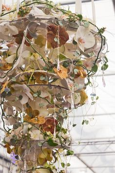Many congratulations to Victoria Richards who was awarded a gold medal in the RHS Young Florist of the Year category for her beautiful chandelier below.