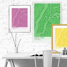 Los mapas de la serie Liquid los podéis encargar en cualquier color para que te vaya con todo en tu decoración. #mapas #citymap #laminasdecorativas #interiordesign #toquedecor #citymaps #interiorismo #creatumapa #poster #interiorstyling #home #instadecor