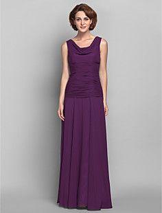 Sheath/Column Cowl Chiffon Mother of the Bride Dress (618832... – USD $ 149.99