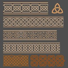 ~ Borders on Pillars celtic knots stock vector 100675405 shutterstock stock vector celtic patterns with flower designs in a circle Celtic Quilt, Celtic Symbols, Celtic Art, Celtic Knots, Celtic Dragon, Design Celta, Celtic Border, Celtic Knot Designs, 3d Cnc