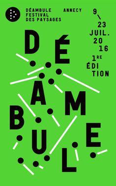 Déambule Festival des paysages design graphique, typo
