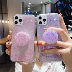 Bling Phone Cases, Pretty Iphone Cases, Glitter Phone Cases, Diy Phone Case, Iphone Phone Cases, Iphone 11, Cute Cases, Cute Phone Cases, Pop Sockets Iphone