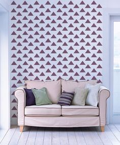 Triangle  - decorative wall stencil