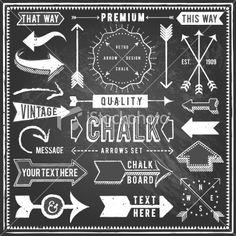 Vintage Chalkboard Arrows Royalty Free Stock Vector Art Illustration