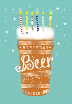 'Birthday beer' - Birthday card template you can print or send online as eCard for free. Happy Birthday Man, Happy Birthday Wishes Cards, Happy Birthday Quotes, Happy Birthday Beer Images, Diy Birthday, Happy Birthday Wishes For Him, Funny Birthday, Birthday Card Template, Birthday Invitation Templates