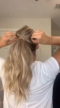 Work Hairstyles, Easy Hairstyles For Long Hair, Hairstyles Videos, Long Blonde Hairstyles, Everyday Hairstyles, How To Ponytail Hairstyles, Hairstyle For Women, Long Hair Easy Updo, Hairstyles With Extensions