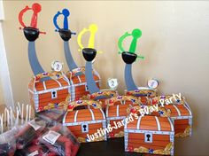 My Boys Jake and the Neverland Pirates Birthday Goody Boxes 09/07/13 from @Oriental Trading Company