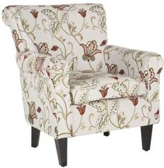 The Safavieh Mercer Collection Margaret Ivory Floral Cotton Club Chair is a wonderfully versatile piece that is sure to fit into any decor. It stands on sturdy birch wood legs that are finished in a rich espresso and it is upholstered in an ivory, cotton fabric with accents of red, green and blue. What sets the Margaret Club Chair, apart is its extra thick seating, elegant and traditional design. more: http://foter.com/decorative-chairs/